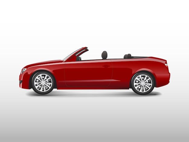 Rotes konvertierbares auto getrennt auf weißem vektor Kostenlosen Vektoren