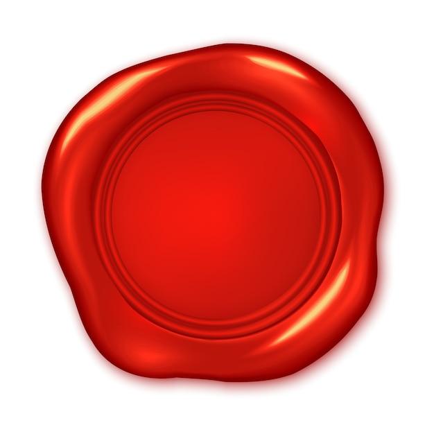Rotes wachssiegel Premium Vektoren