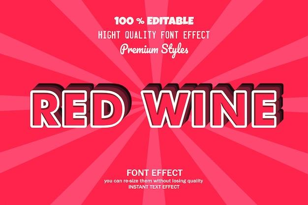 Rotweintext, gusseffekt Premium Vektoren