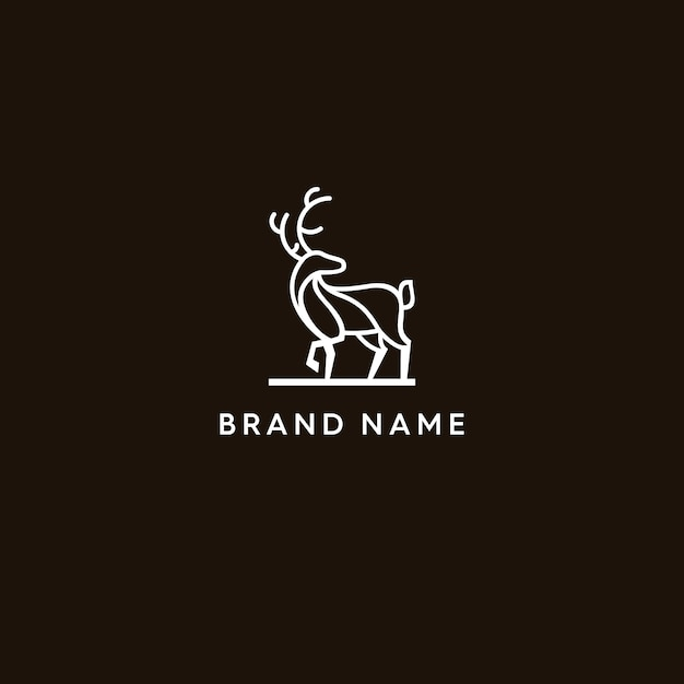 Rotwild monoline logo Premium Vektoren