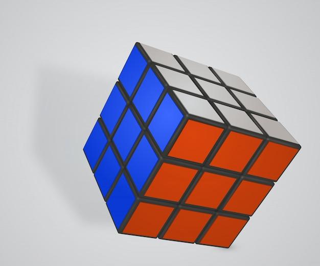 Rubiks cube auf weiß Premium Vektoren