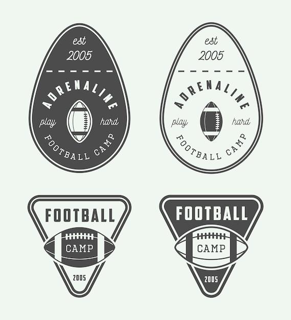 Rugby-embleme Premium Vektoren