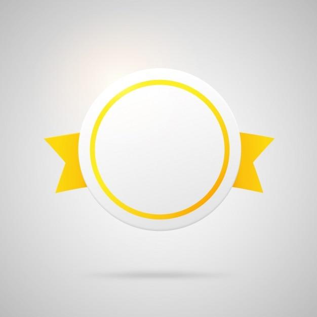 Rund gelbe abzeichen Kostenlosen Vektoren