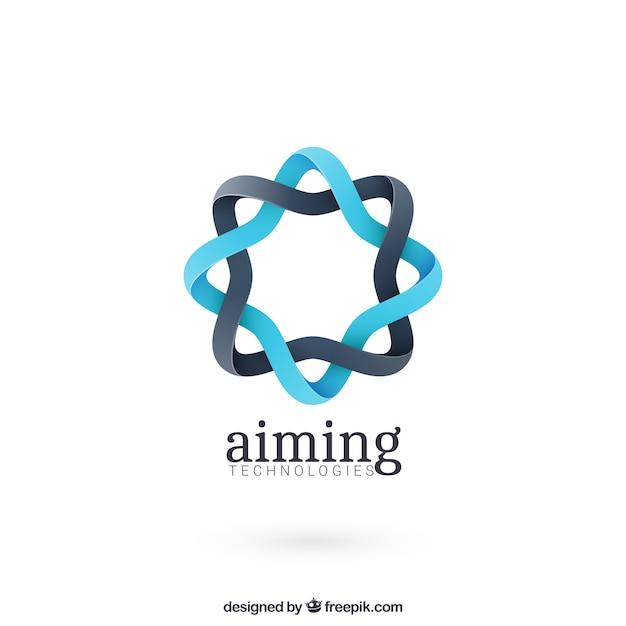 Runde abstrakte form logo Kostenlosen Vektoren