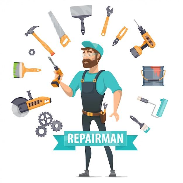 Runde elemente für reparaturelemente Kostenlosen Vektoren