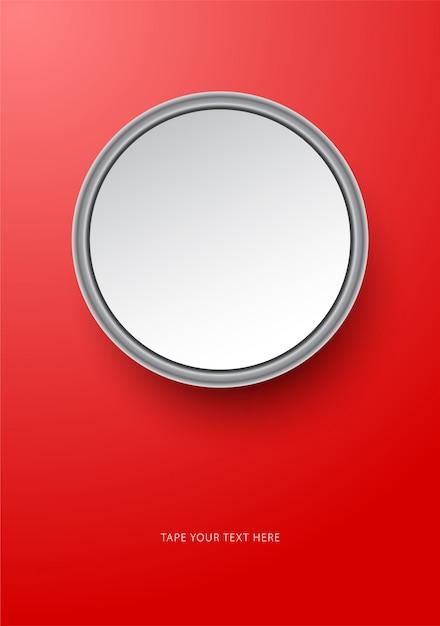 Runde foto flamme modell vorlage auf rot. Premium Vektoren