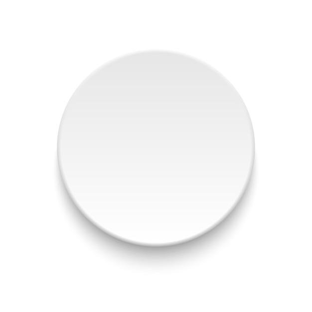 Runde leere platte auf weiß Premium Vektoren