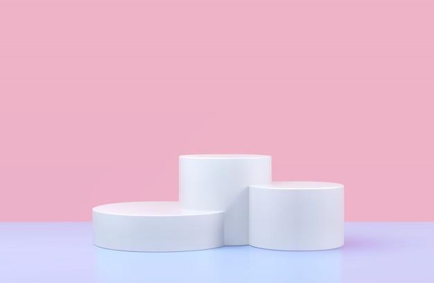 Rundes podium, sockel oder plattform, hintergrund für die präsentation kosmetischer produkte. Premium Vektoren