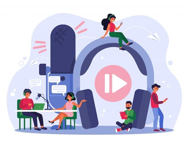 Rundfunkkonzept Kostenlosen Vektoren