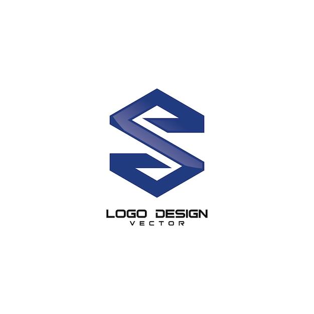 S-buchstabe-einfacher logo design vector Premium Vektoren