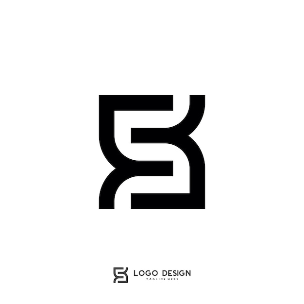 S buchstabe symbol logo vorlage Premium Vektoren