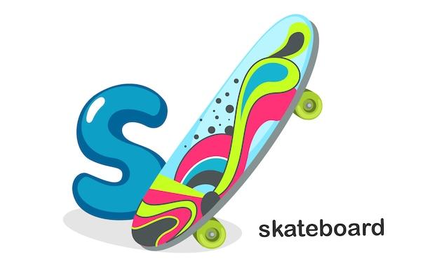 S für skateboard Premium Vektoren