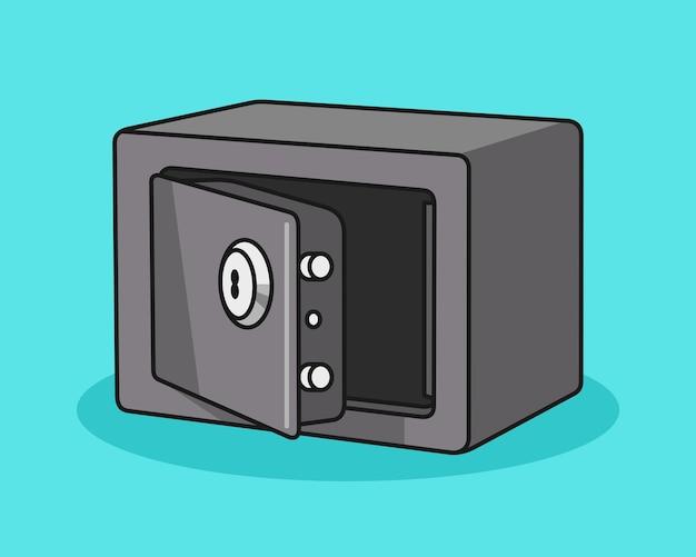 Safe box cartoon illustration Premium Vektoren