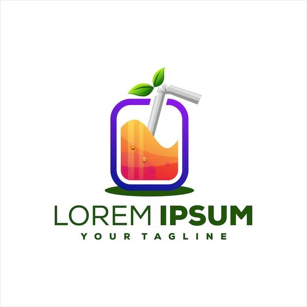 Saft orange farbverlauf logo design Premium Vektoren