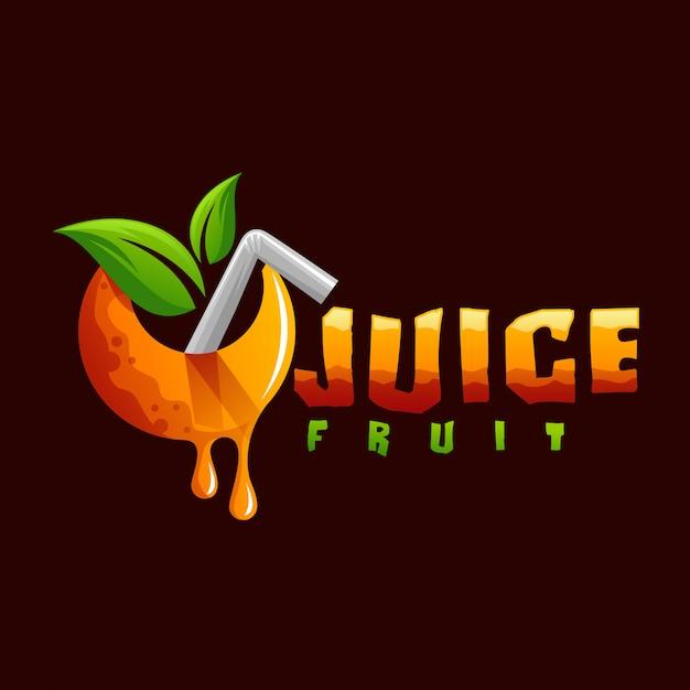 Saftfrucht-logo Premium Vektoren