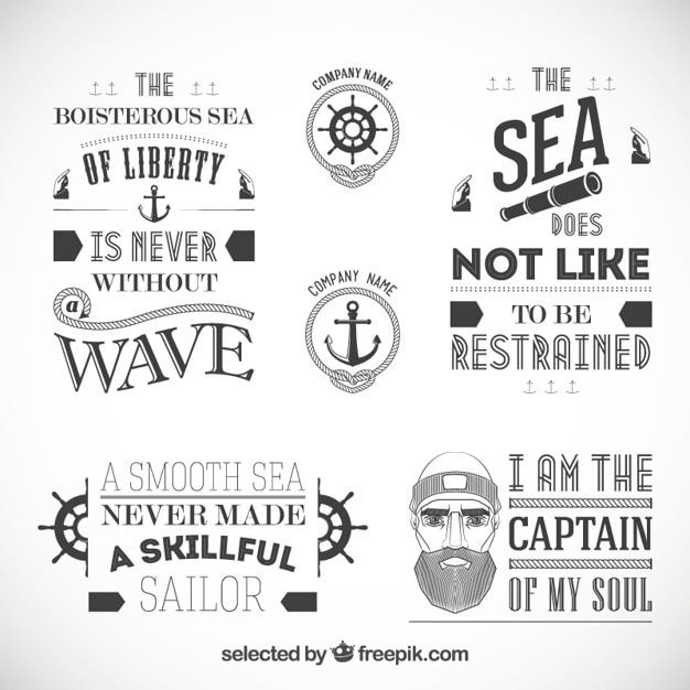 Sailor abzeichen Kostenlosen Vektoren