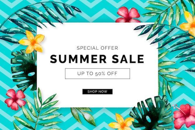 Saisonaler sommerschlussverkauf Kostenlosen Vektoren