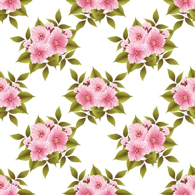 Sakura blume nahtlose muster Kostenlosen Vektoren