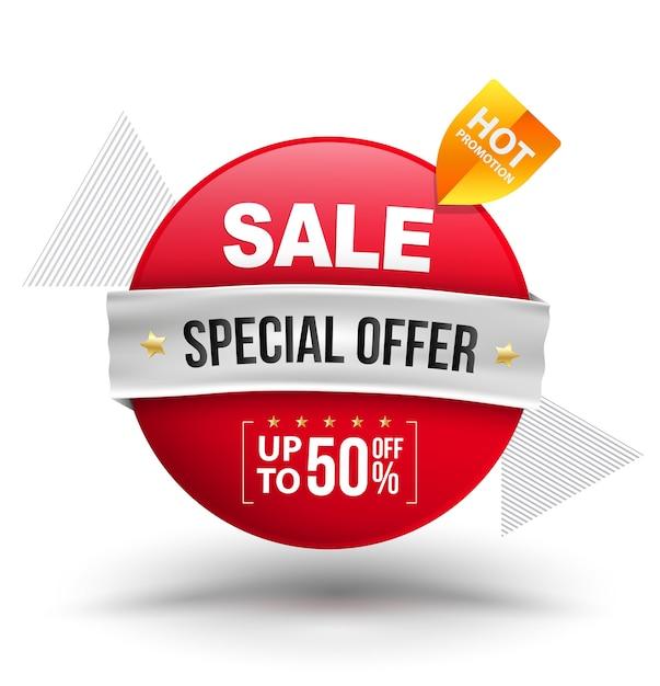 Sale sonderangebot rabatt bis zu 50 prozent Premium Vektoren