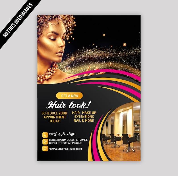 Salon-Broschüre | Download der Premium Vektor