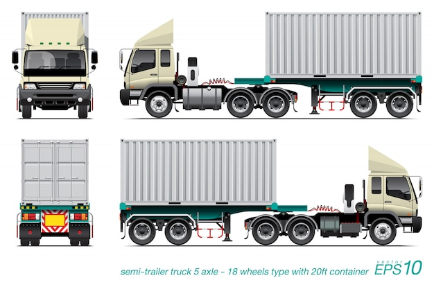 Sami trailer Premium Vektoren