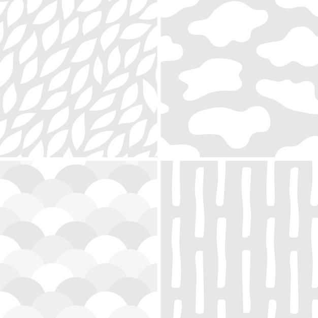 Sammlung der einfachen mustervektorillustration Kostenlosen Vektoren