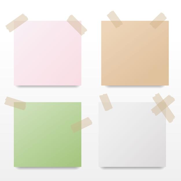 Sammlung des bunten briefpapiers auch im corel abgehobenen betrag. Premium Vektoren
