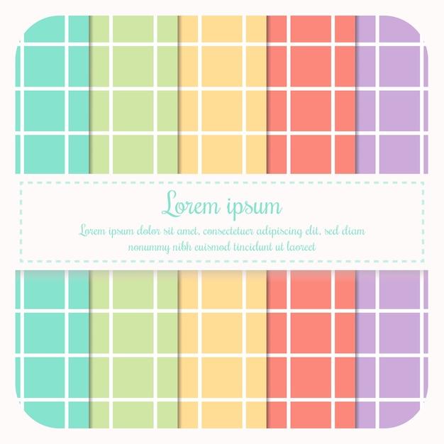 Sammlung eines hellen pastell geometrischen musters. Premium Vektoren