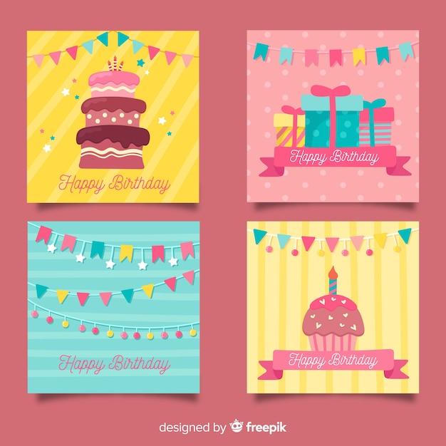 Sammlung hand gezeichnete glückwunschkarten Kostenlosen Vektoren