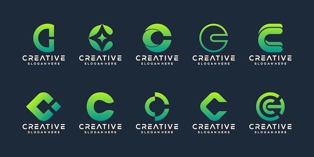 Sammlung initialen c logo vorlage Premium Vektoren