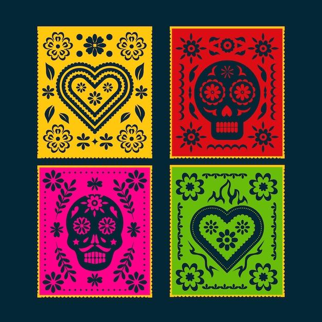 Sammlung mexikanischer ammern Kostenlosen Vektoren