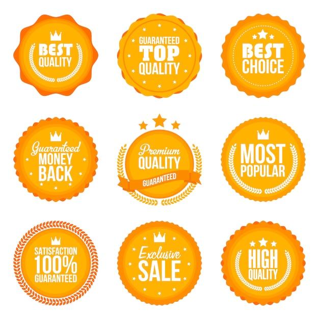 Sammlung moderner etiketten Premium Vektoren