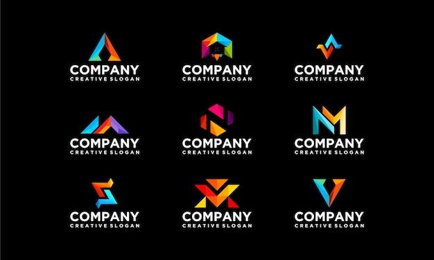 Sammlung set bunte firma business moderne logo-vorlage Premium Vektoren