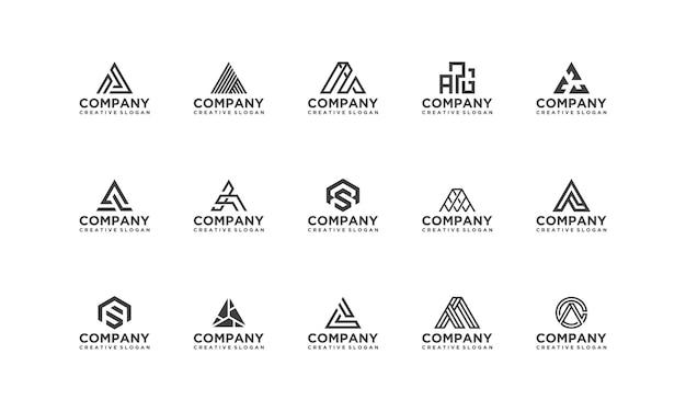 Sammlung set monogramm firma business modern logo vorlage Premium Vektoren