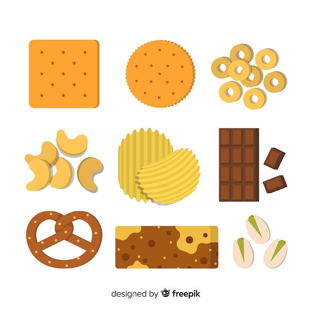 Sammlung ungesunde snacks Kostenlosen Vektoren