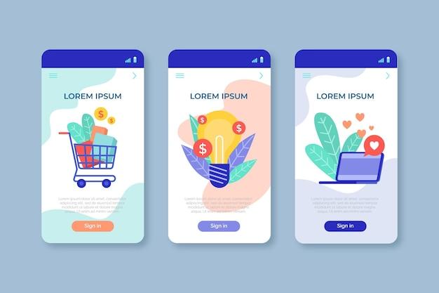 Sammlung verschiedener app-konzepte Kostenlosen Vektoren