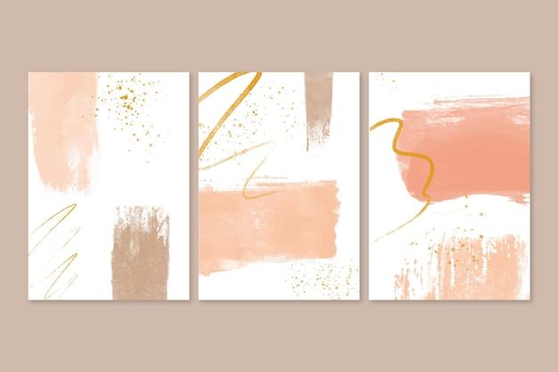 Sammlung von abstrakten aquarellformen umfasst Kostenlosen Vektoren