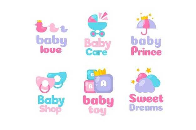 Sammlung von babyelement-logo-vorlage Kostenlosen Vektoren