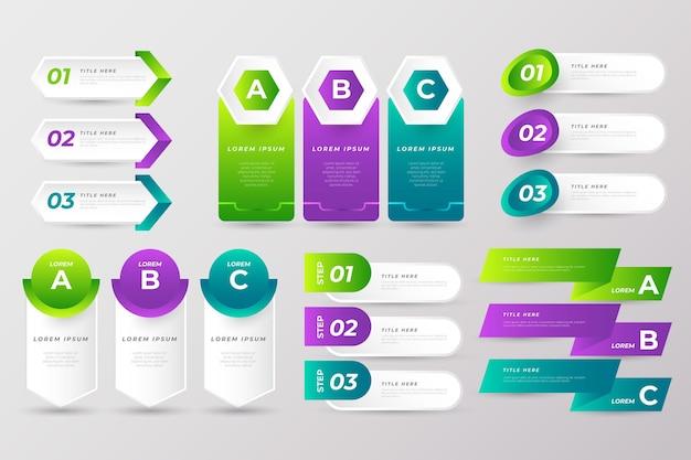 Sammlung von bunten infografik-elementen Kostenlosen Vektoren