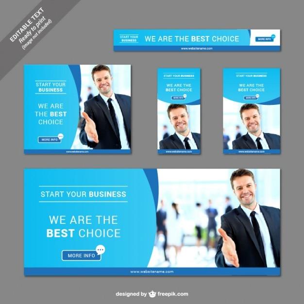 Sammlung von Business-Banner Kostenlose Vektoren