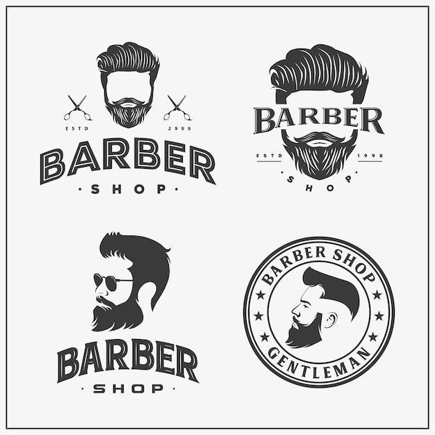 Sammlung von friseur-logo und symbol Premium Vektoren