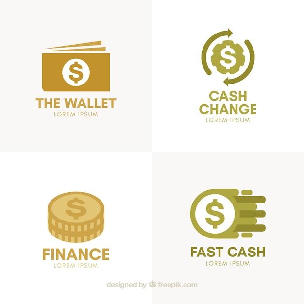 Sammlung von geld-logo-vorlagen Kostenlosen Vektoren