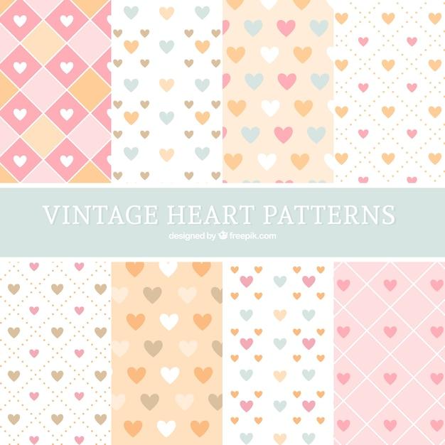 Sammlung von Herzen Muster in flachen Design | Download der ...