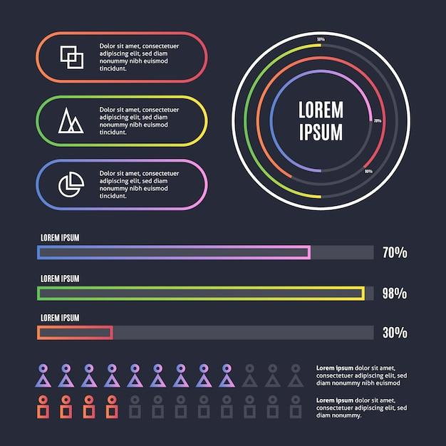 Sammlung von infografik-elementen Kostenlosen Vektoren