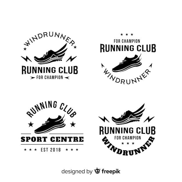 Sammlung von Laufschuh-Logos Kostenlose Vektoren