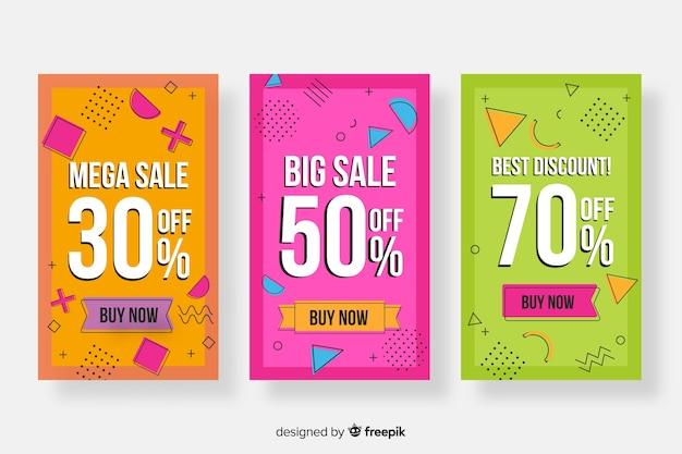 Sammlung von memphis sales banner Kostenlosen Vektoren