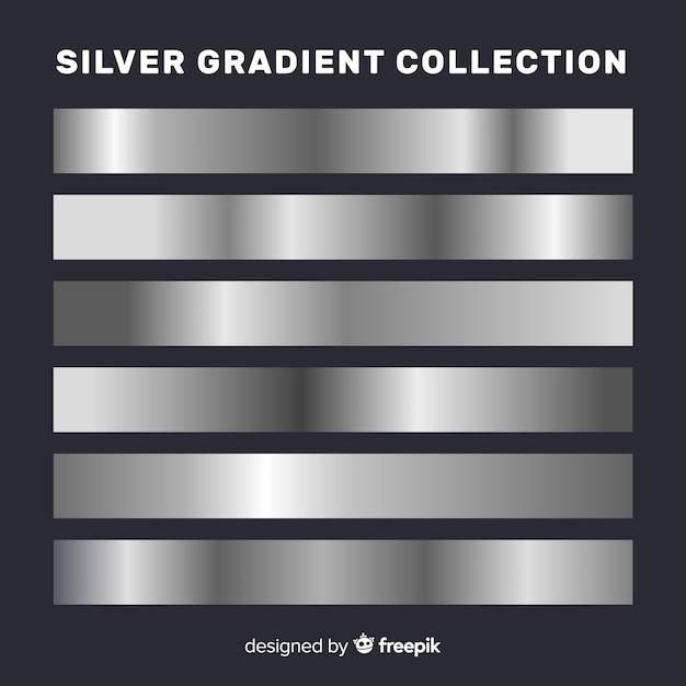 Sammlung von metallischen farbverläufen Kostenlosen Vektoren