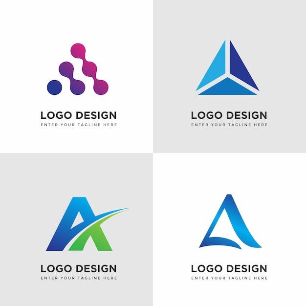 Sammlung von minimalistischen logo design vorlagen Premium Vektoren