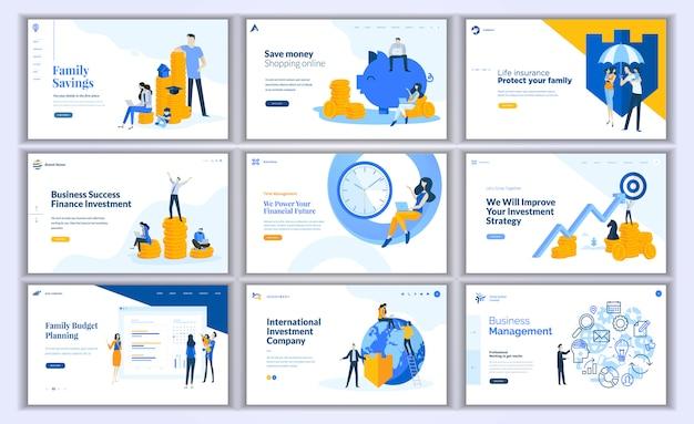 Sammlung von modernem design Premium Vektoren