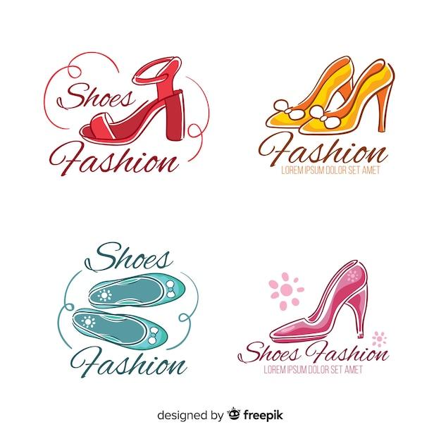 Sammlung von modeschuh-logos Kostenlosen Vektoren